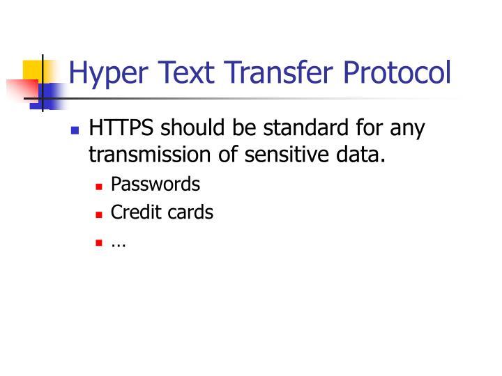 Hyper Text Transfer Protocol