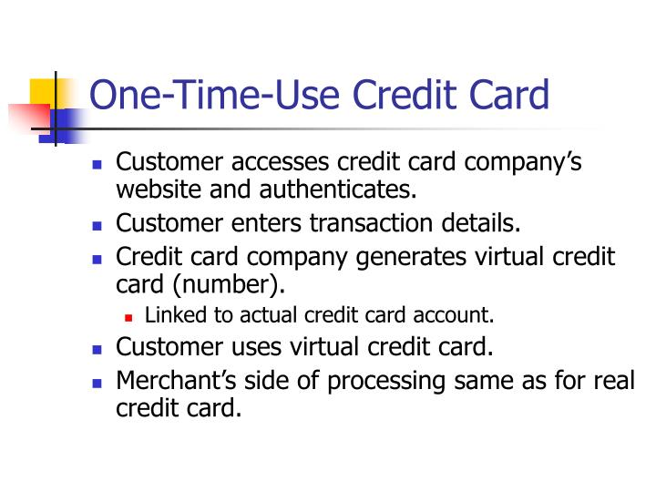 One-Time-Use Credit Card