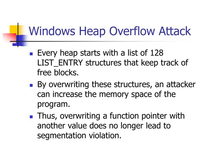 Windows Heap Overflow Attack