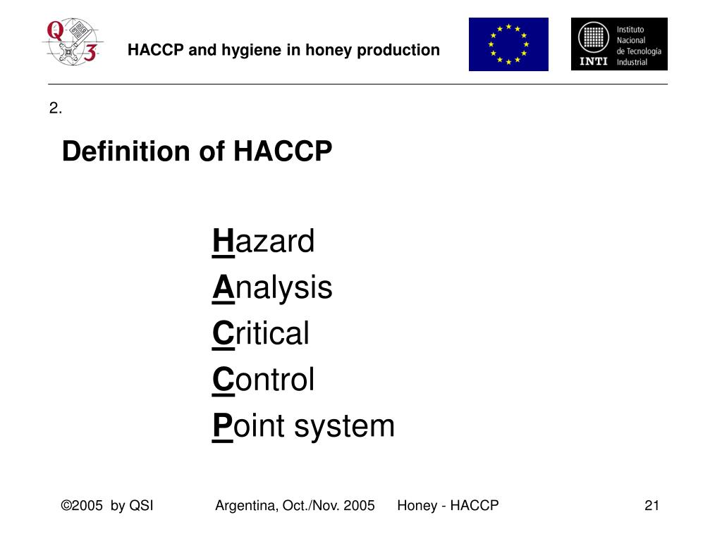 Definition of HACCP