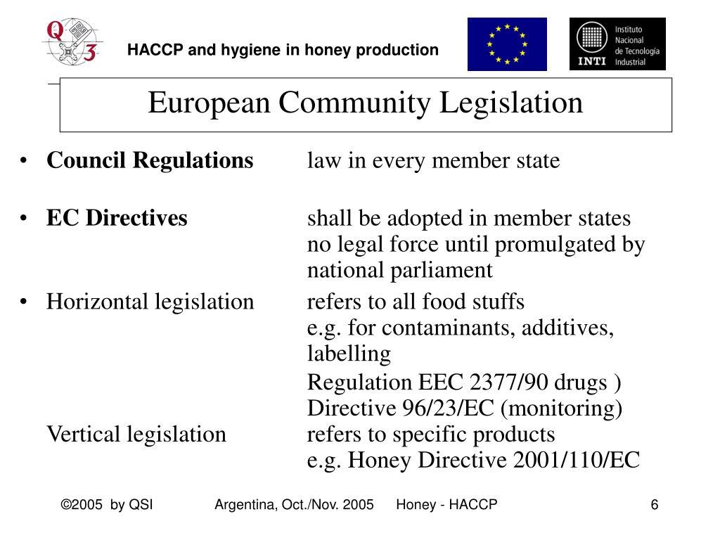 European Community Legislation