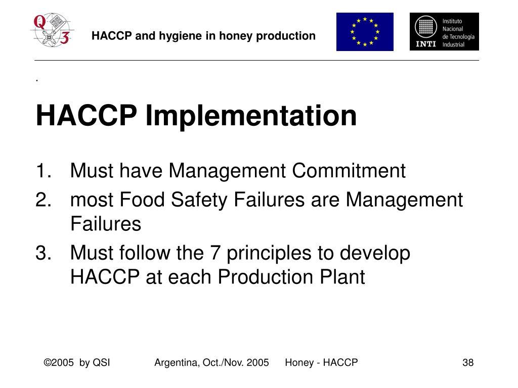 HACCP Implementation