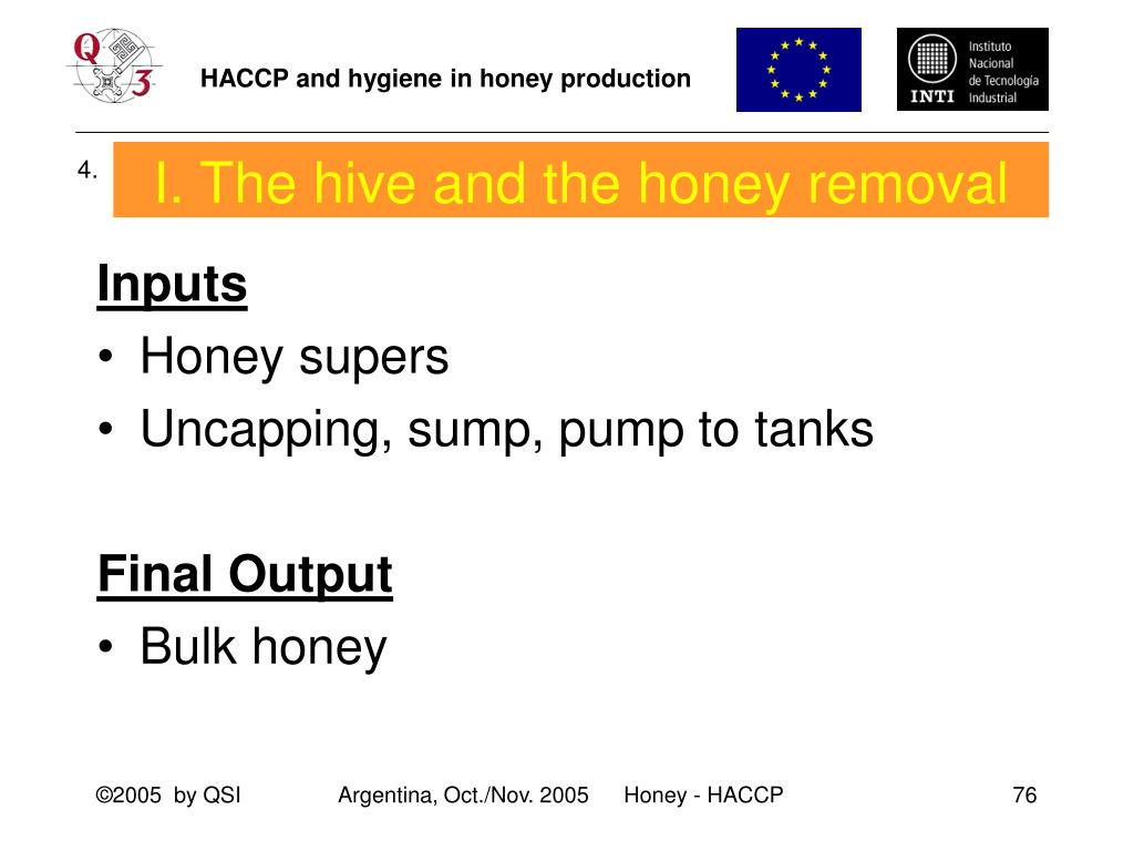 I. The hive and the honey removal
