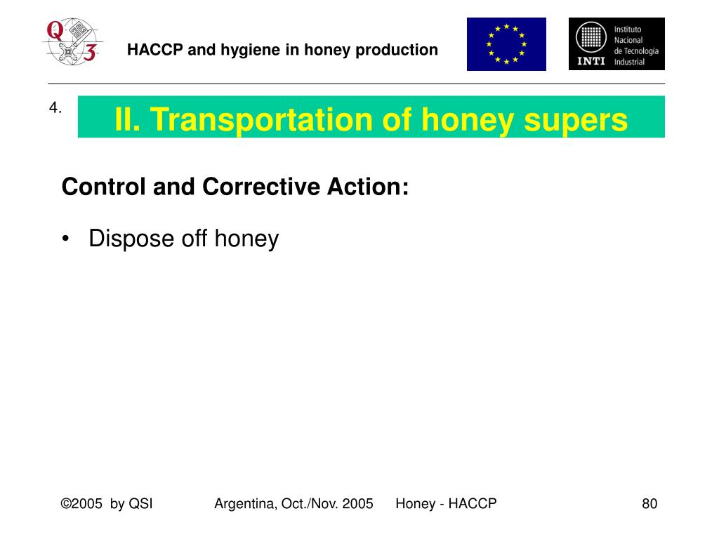 II. Transportation of honey supers