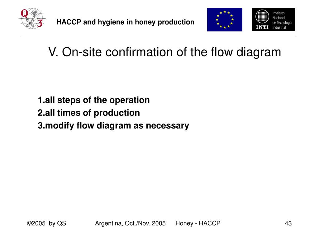 V. On-site confirmation of the flow diagram