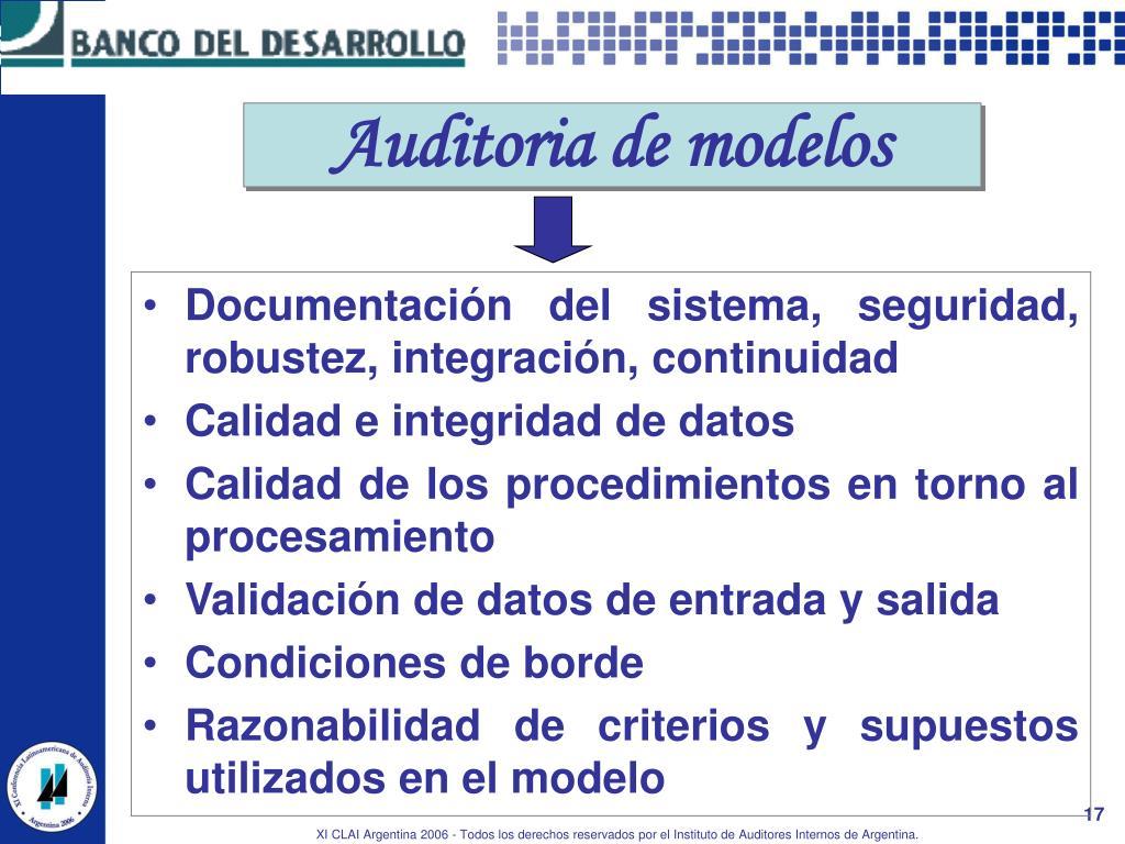 Auditoria de modelos