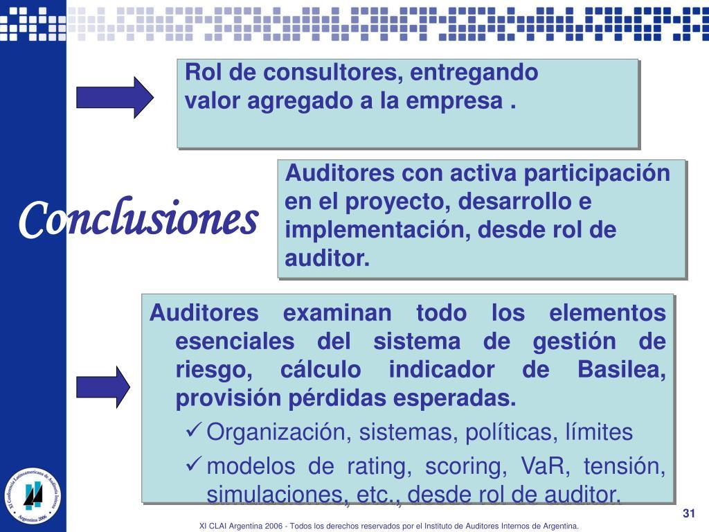 Auditores con activa participación