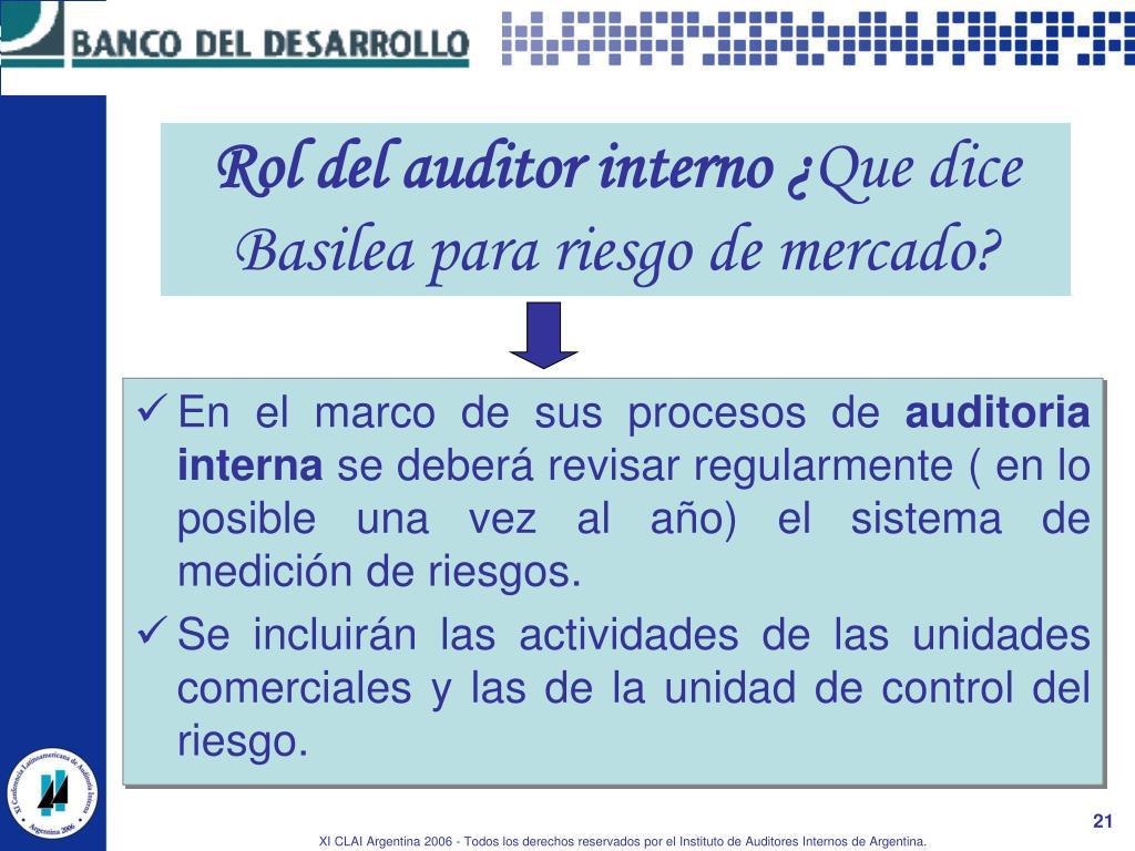 Rol del auditor interno ¿