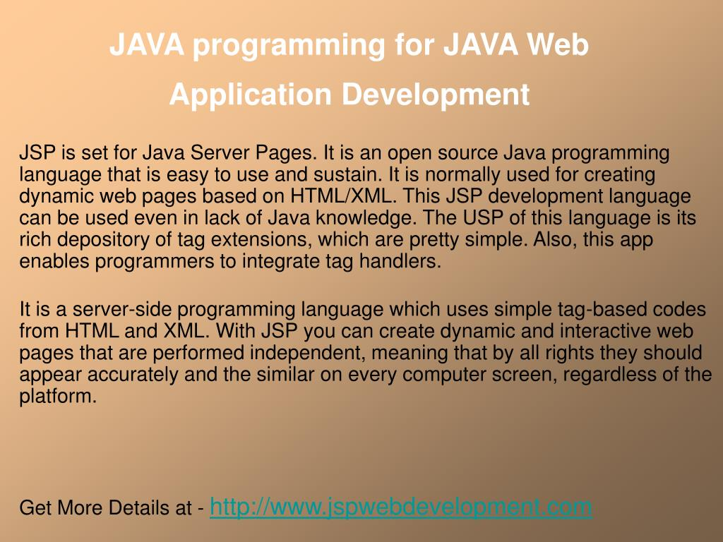 java programming for java web application development
