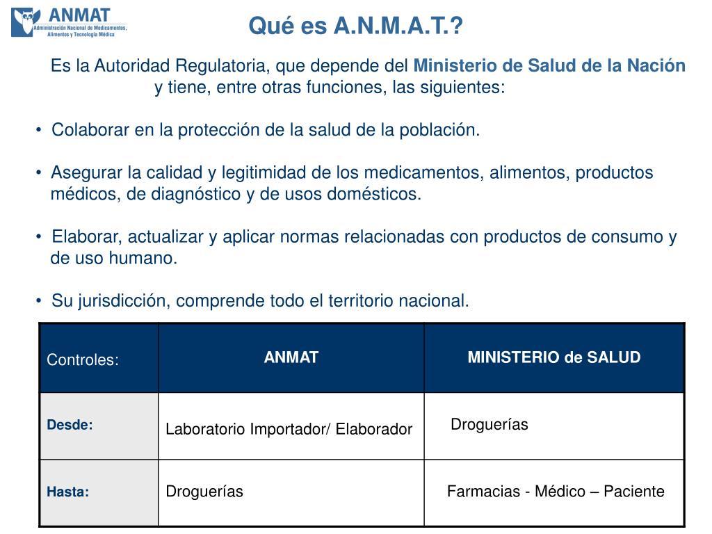 Qué es A.N.M.A.T.?