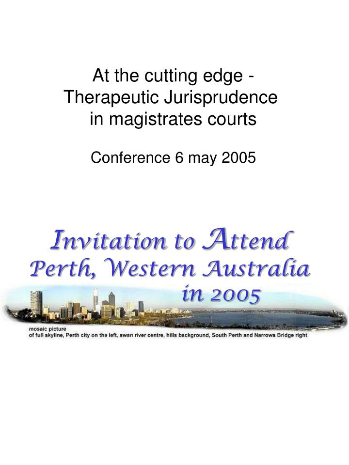 At the cutting edge -