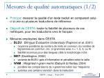 mesures de qualit automatiques 1 2
