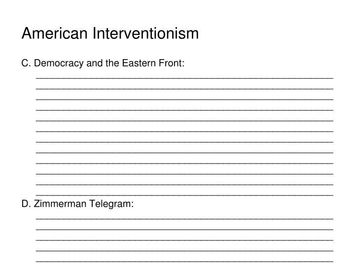 American Interventionism