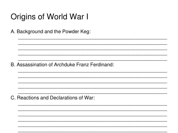 Origins of world war i