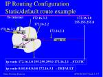 ip routing configuration static default route example