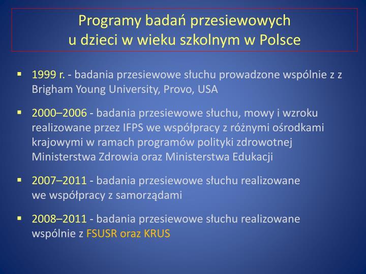 Programy badań przesiewowych