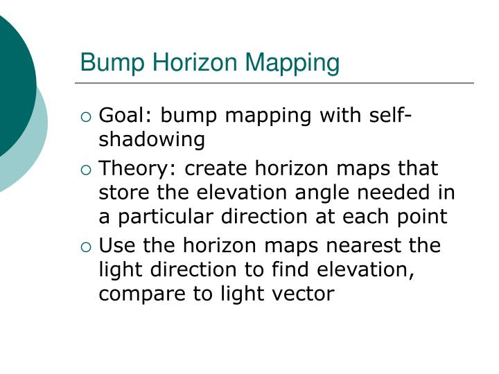 Bump Horizon Mapping