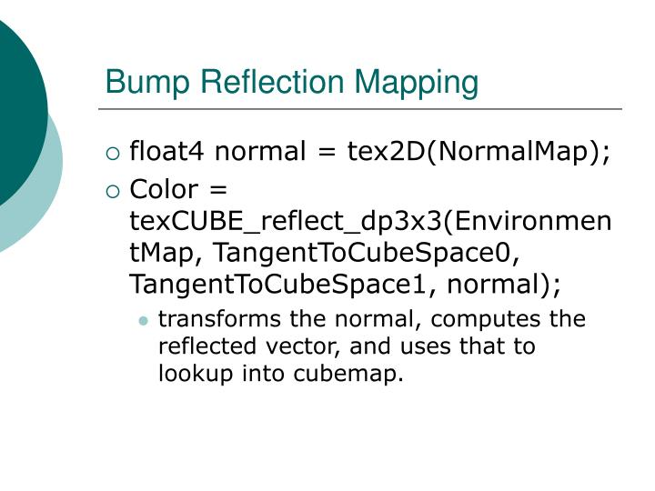 Bump Reflection Mapping