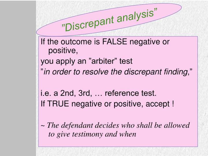 """""""Discrepant analysis"""""""