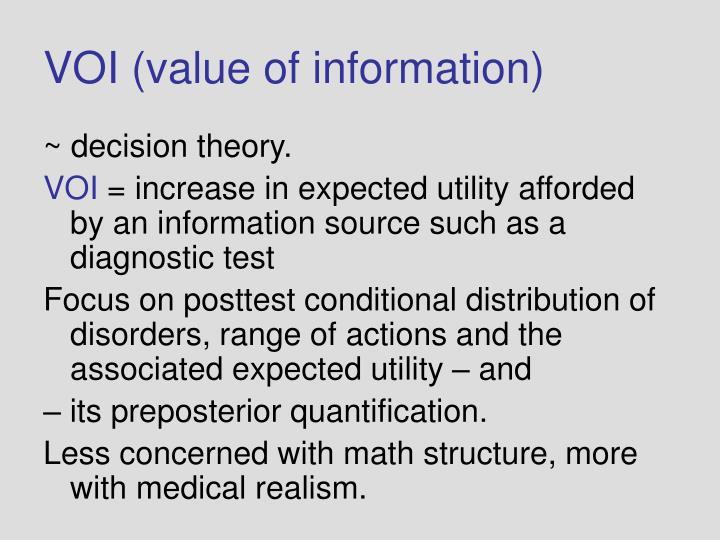 VOI (value of information)