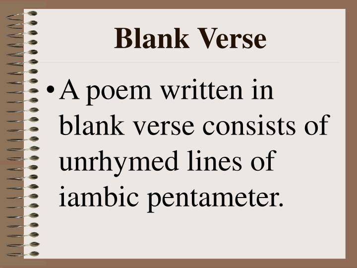 Blank Verse