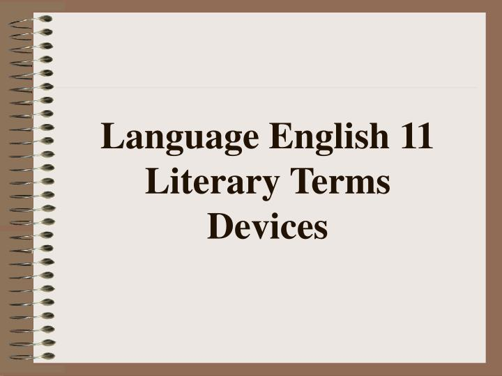 Language English 11 Literary Terms