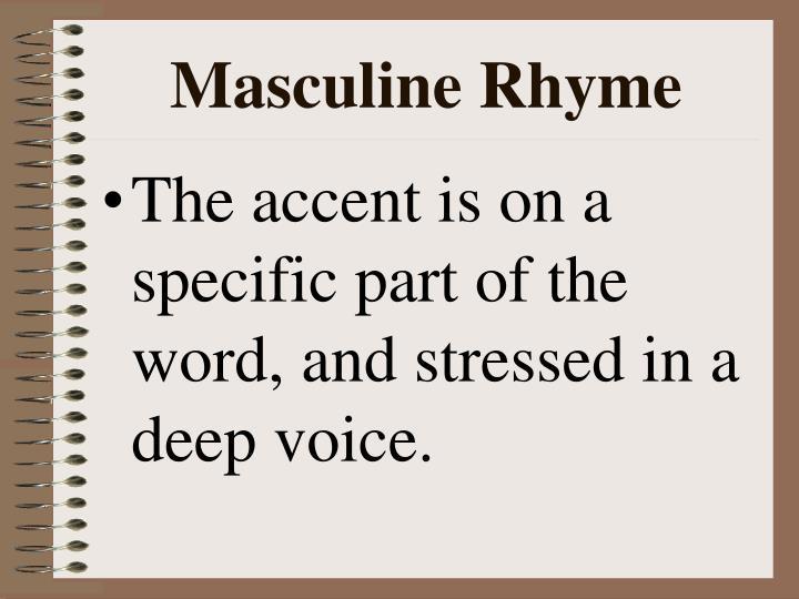 Masculine Rhyme