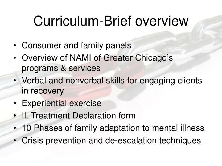 Curriculum-Brief overview