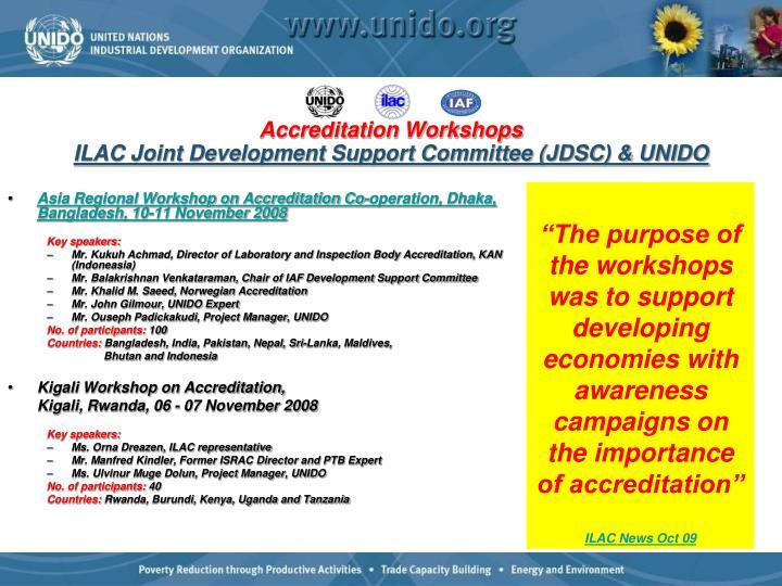 Asia Regional Workshop on Accreditation Co-operation, Dhaka, Bangladesh, 10-11 November 2008