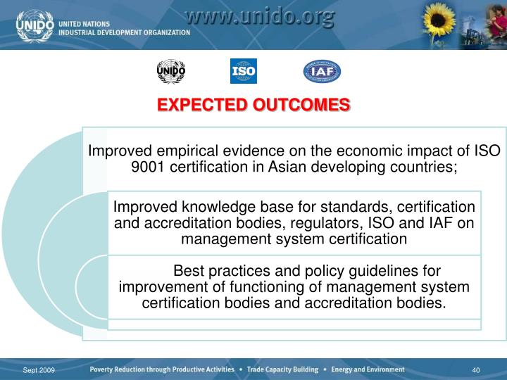 Expected outcomes………