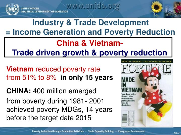 Industry trade development income generation and poverty reduction