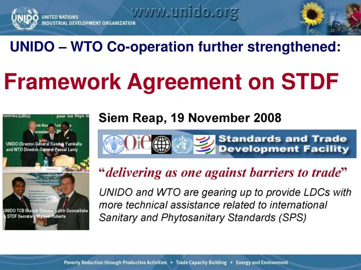 UNIDO – WTO Co-operation further strengthened: