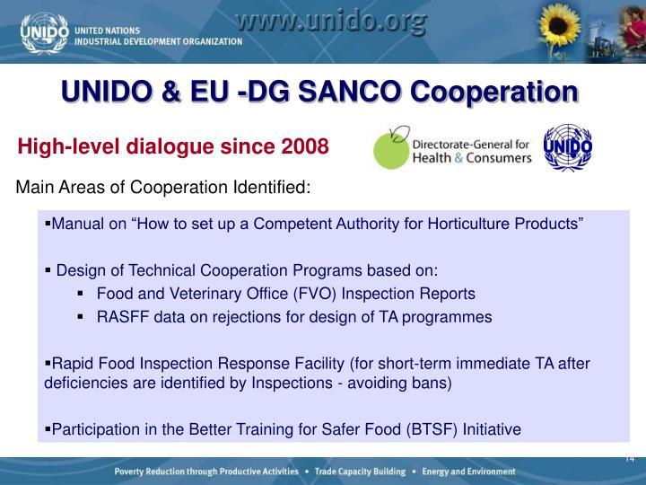 UNIDO & EU -DG SANCO Cooperation