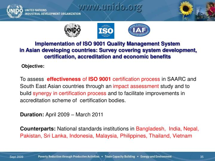 Implementation of ISO 9001 Quality Management System
