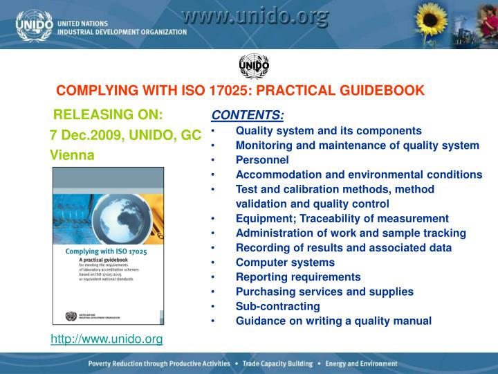 COMPLYING WITH ISO 17025: PRACTICAL GUIDEBOOK
