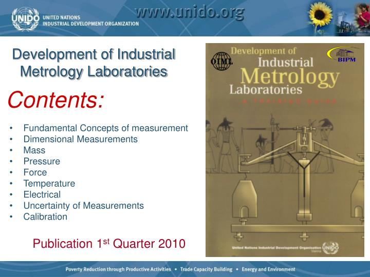 Development of Industrial Metrology Laboratories