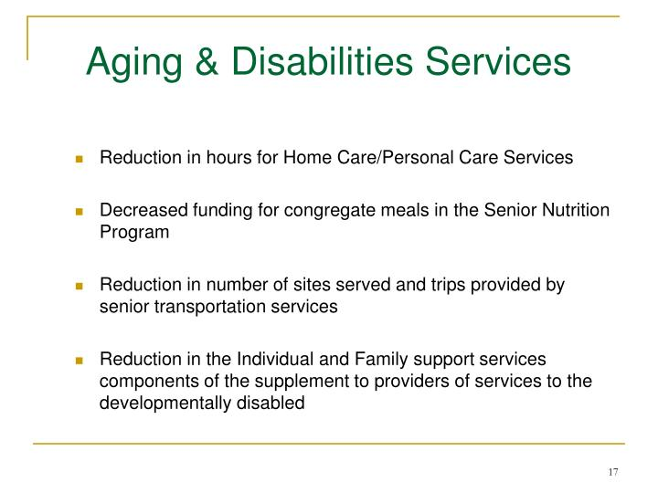 Aging & Disabilities Services