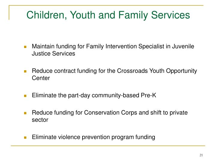 Children, Youth and Family Services