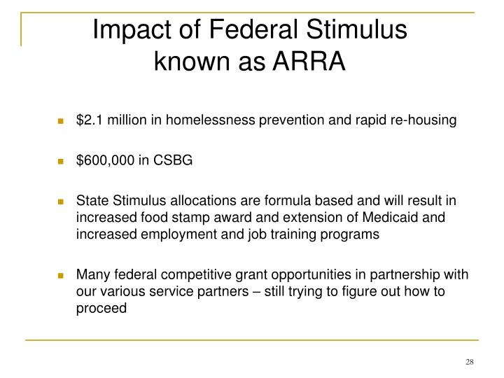 Impact of Federal Stimulus