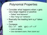polynomial properties