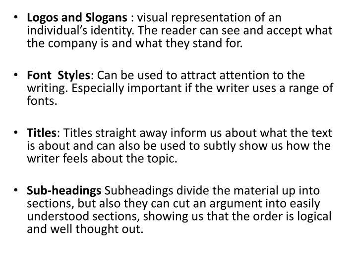Logos and Slogans