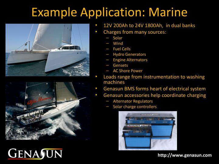 Example Application: Marine