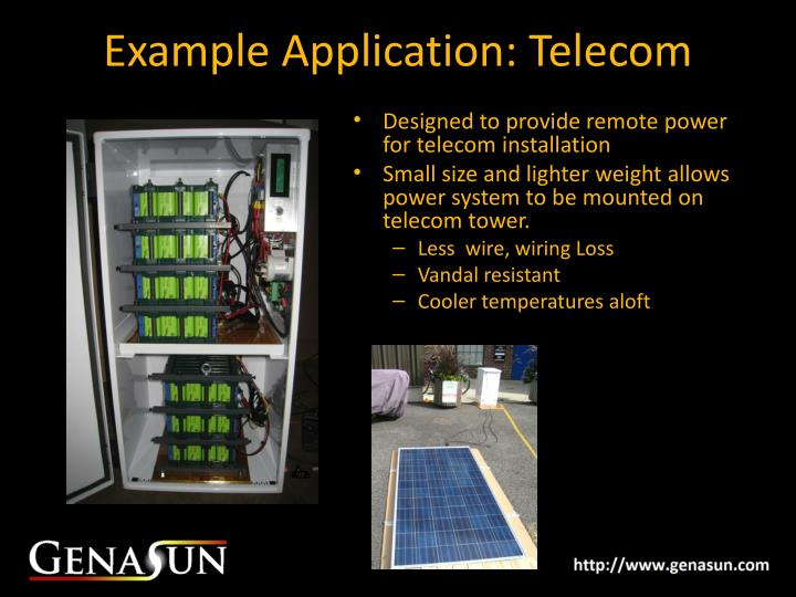 Example Application: Telecom