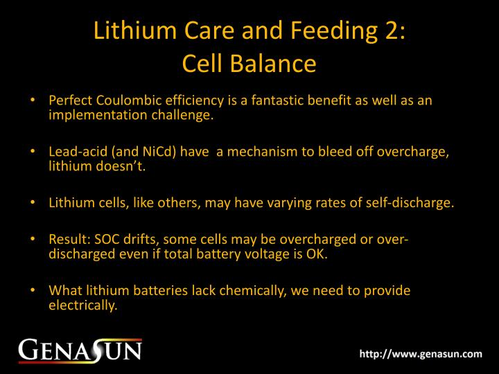 Lithium Care and Feeding 2: