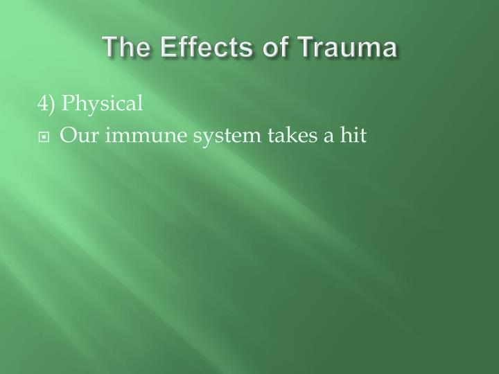 The Effects of Trauma