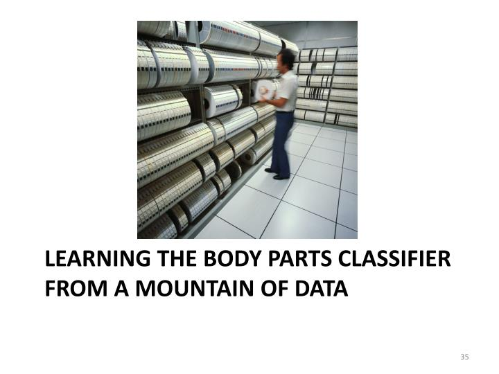 Learning The Body Parts Classifier from a Mountain of Data