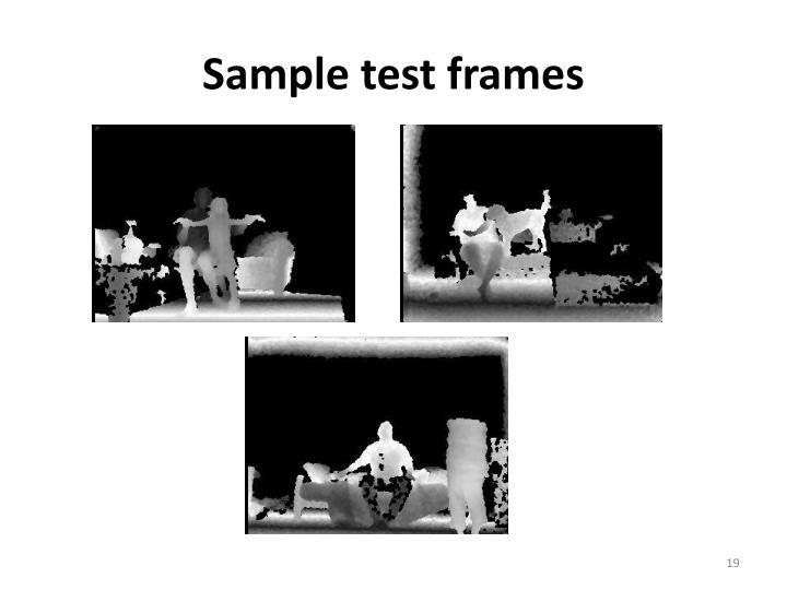 Sample test frames
