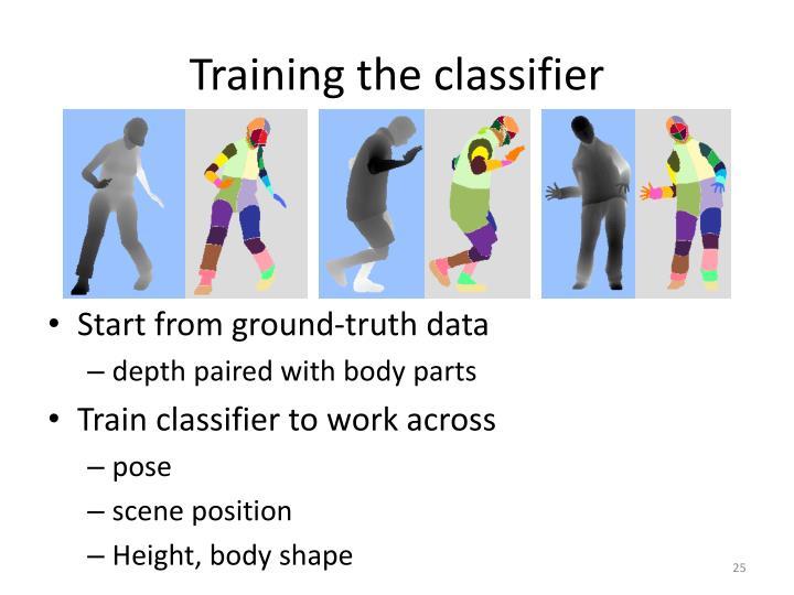 Training the classifier