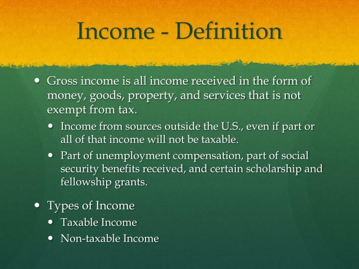 Income - Definition