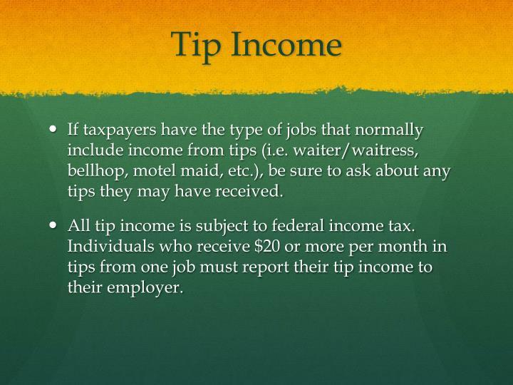 Tip Income